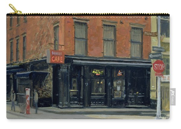 Fanellis Bar, New York, 1996 Oil On Canvas Carry-all Pouch