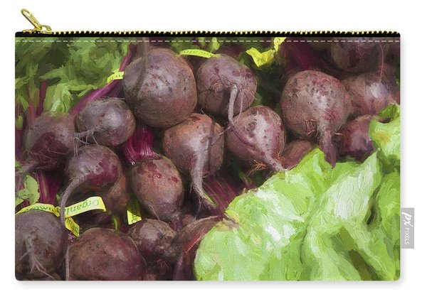 Farmers Market Beets And Greens Square Carry-all Pouch