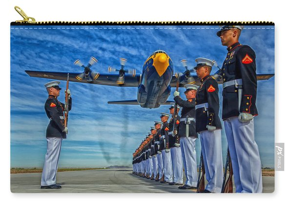 Fat Albert Over The Usmc Silent Drill Team Carry-all Pouch