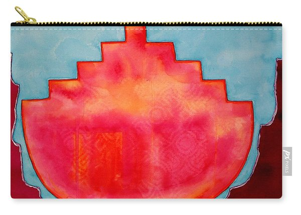 Fat Sunrise Original Painting Carry-all Pouch