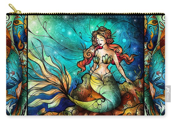 The Serene Siren Triptych Carry-all Pouch