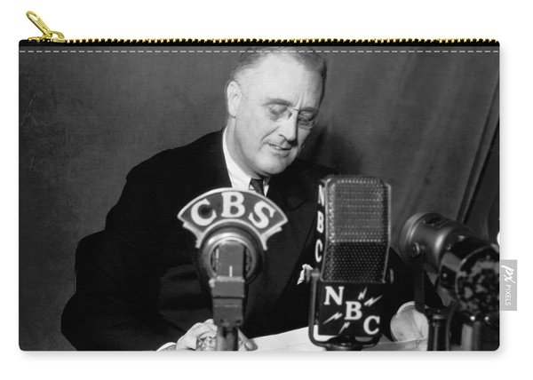 Fdr Addresses Labor Strikes Carry-all Pouch