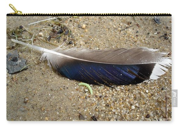 Feather And Inchworm Carry-all Pouch