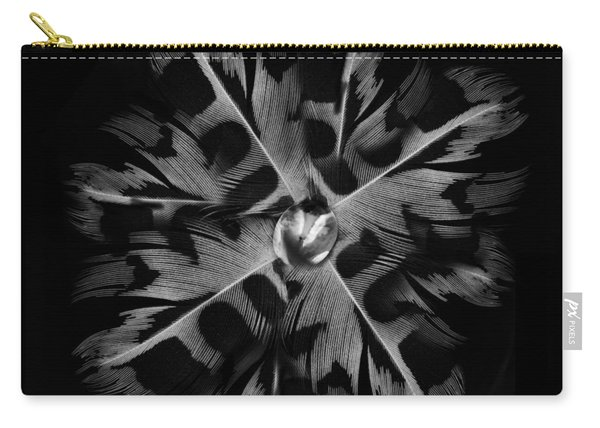 Feather Flower Carry-all Pouch