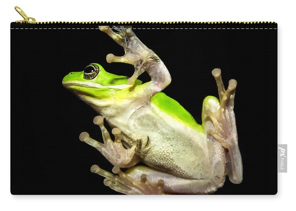 Feathered Frog Carry-all Pouch
