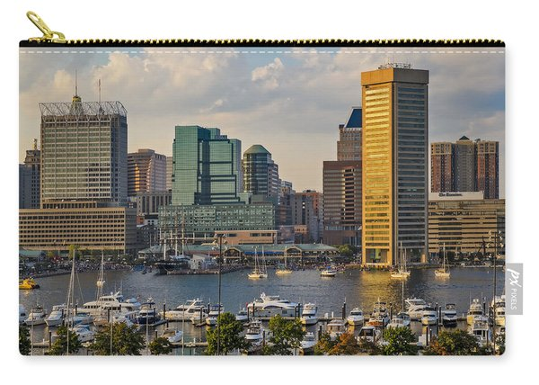 Federal Hill View To The Baltimore Skyline Carry-all Pouch