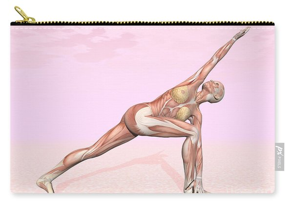 Female Musculature Performing Revolved Carry-all Pouch