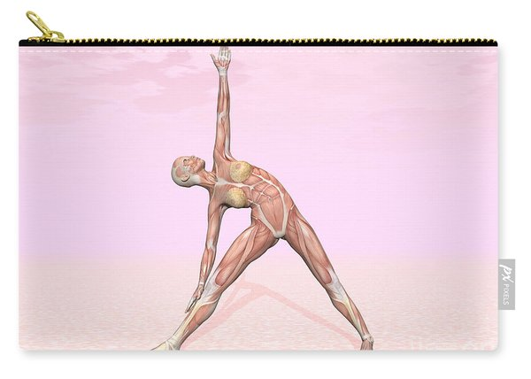Female Musculature Performing Triangle Carry-all Pouch