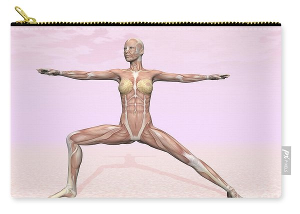 Female Musculature Performing Warrior Carry-all Pouch