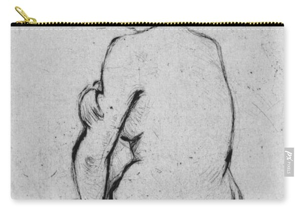 Female Nude Seen From Behind Carry-all Pouch