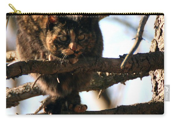 Feral Cat In Pine Tree Carry-all Pouch