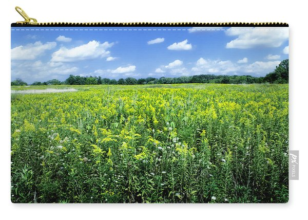 Field Of Flowers Sky Of Clouds Carry-all Pouch