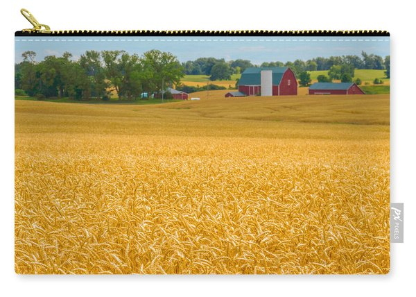 Carry-all Pouch featuring the photograph Fields Of Gold by Garvin Hunter