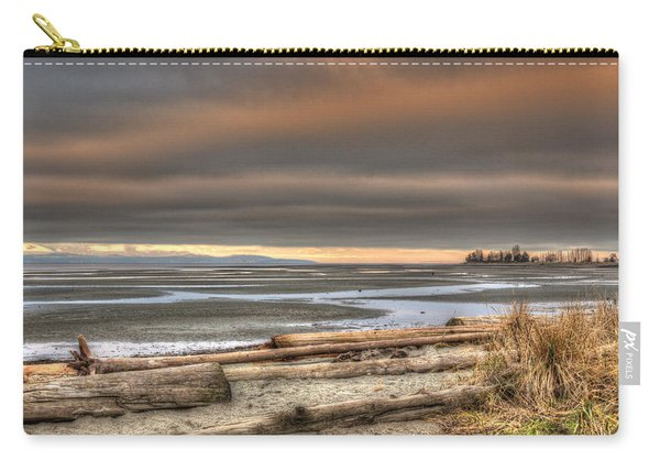 Fiery Sky Over The Salish Sea Carry-all Pouch