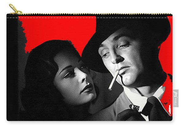 Film Noir Jane Greer Robert Mitchum Out Of The Past 1947 Rko Color Added 2012 Carry-all Pouch