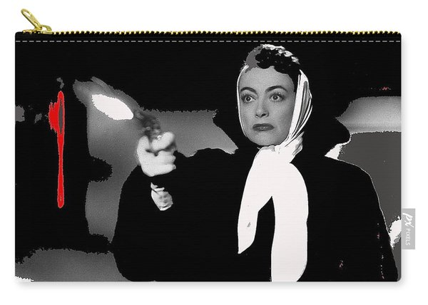 Film Noir Joan Crawford Jack Palance Sudden Fear 1952 Rko Publicity Photo Color Added 2012 Carry-all Pouch