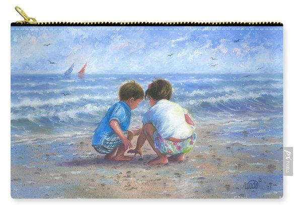Finding Sea Shells Brother And Sister Carry-all Pouch