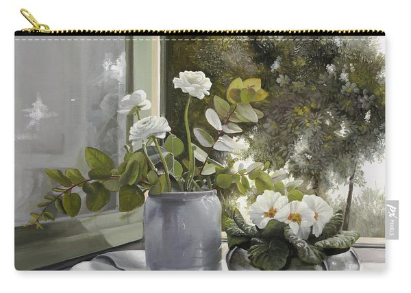 Fiori Bianchi Alla Finestra Carry-all Pouch