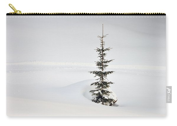 Fir Tree And Lots Of Snow In Winter Kleinwalsertal Austria Carry-all Pouch
