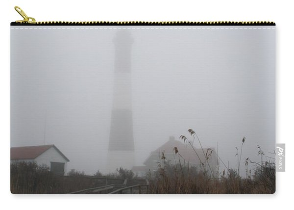 Fire Island Lighthouse In Fog Carry-all Pouch