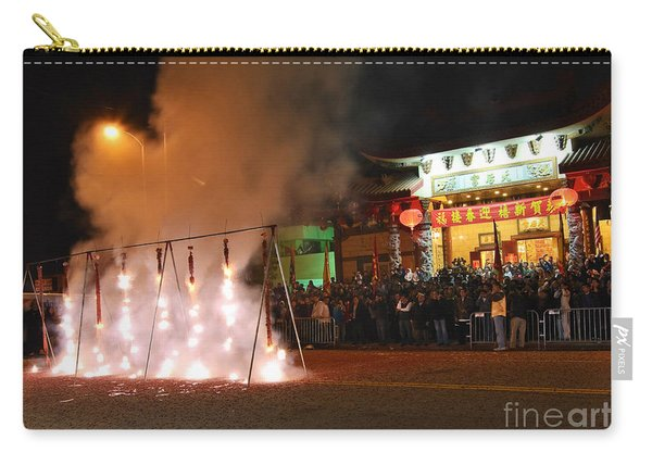Firecrackers At Night During The Chinese New Years Celebration. Carry-all Pouch
