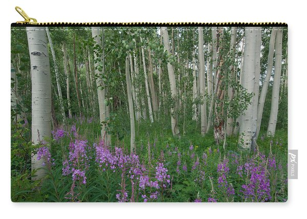 Fireweed And Aspen Carry-all Pouch