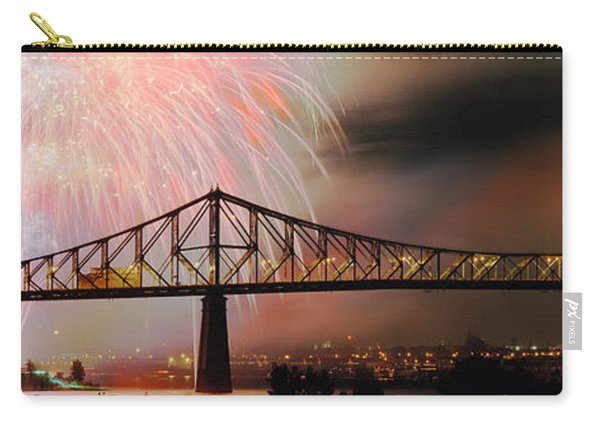 Fireworks Over The Jacques Cartier Carry-all Pouch