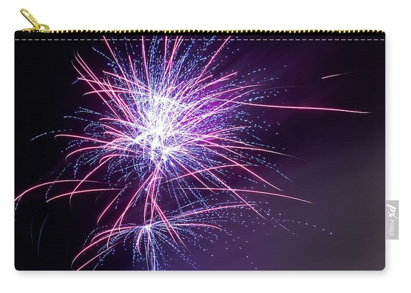 Carry-all Pouch featuring the photograph Fireworks - Purple Haze by Scott Lyons
