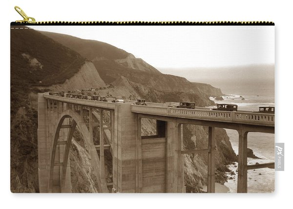 First Cars Across Bixby Creek  Bridge Big Sur California  Nov. 1932 Carry-all Pouch