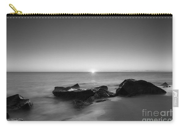 First Light At Sandy Hook Nj Bw Carry-all Pouch