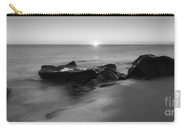 First Light At Sandy Hook Nj Pano Bw Carry-all Pouch