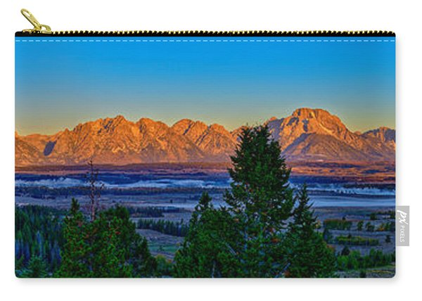 First Light On The Tetons Carry-all Pouch