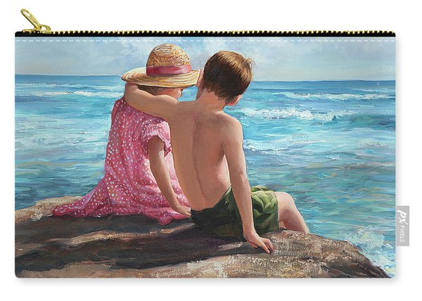 First Love By The Seashore Carry-all Pouch