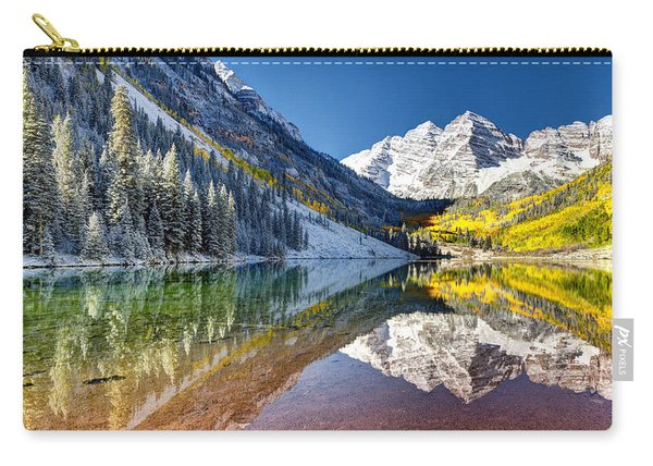 First Snow Maroon Bells Carry-all Pouch