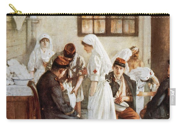 First Wordl War. Nurses With Wounded Soldiers. Poitiers Carry-all Pouch