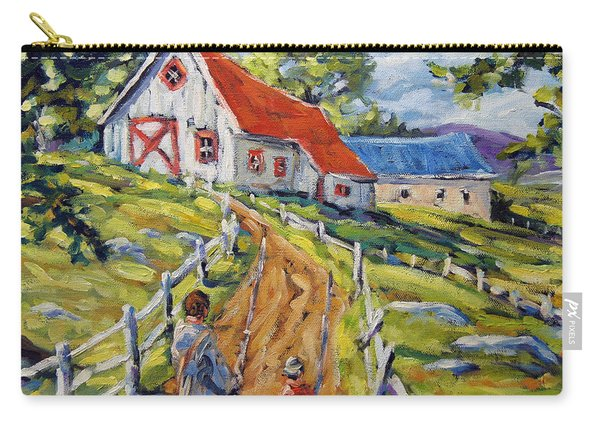 Fishin Days Small Painting By Prankearts Carry-all Pouch