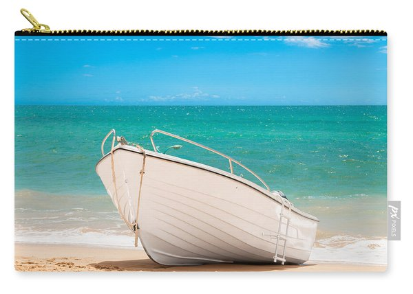 Fishing Boat On The Beach Algarve Portugal Carry-all Pouch