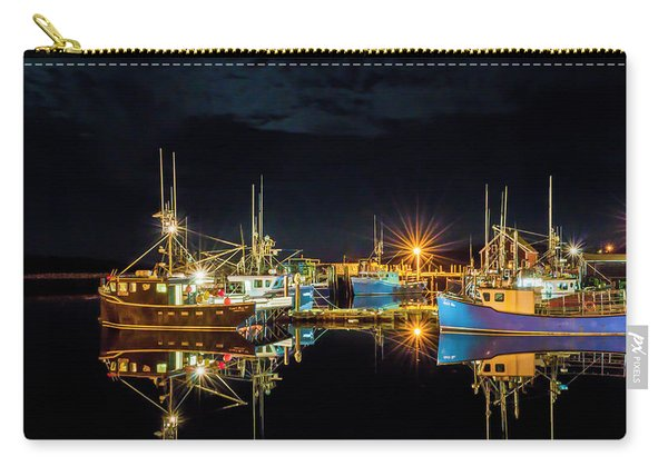 Carry-all Pouch featuring the photograph Fishing Hamlet by Garvin Hunter