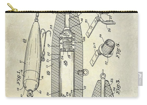 Fishing Lure Patent  Carry-all Pouch