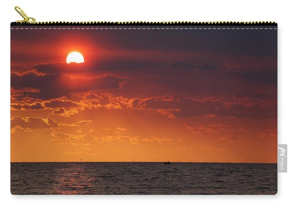 Fishing Till The Sun Goes Down Carry-all Pouch