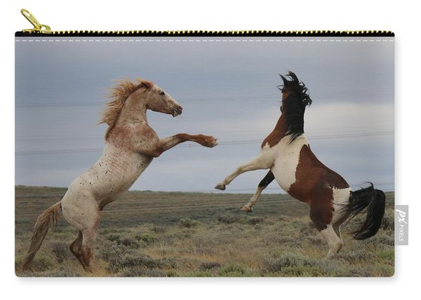 Carry-all Pouch featuring the photograph Fist Fight  by Christy Pooschke