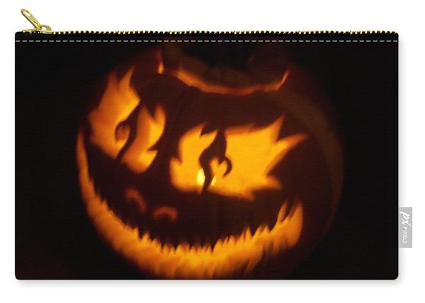Flame Pumpkin Side Carry-all Pouch