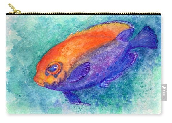 Flameback Angelfish Carry-all Pouch