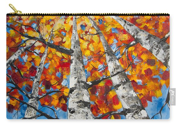 Flaming Aspens Carry-all Pouch