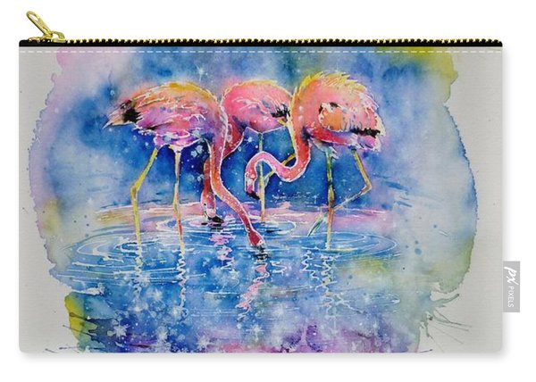 Flamingo Glare Carry-all Pouch