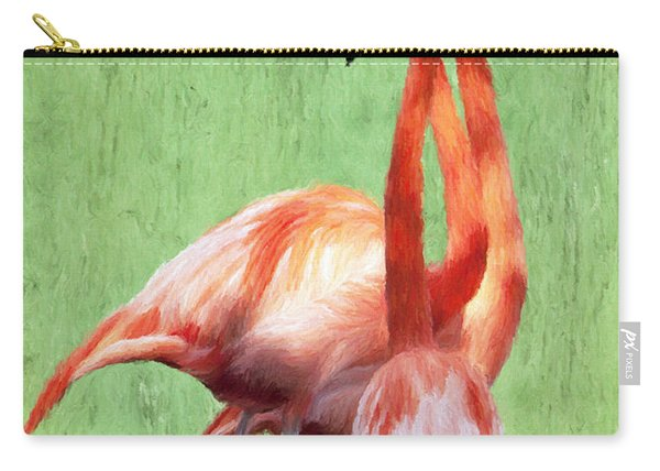 Flamingo Twist Carry-all Pouch