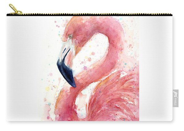 Flamingo Watercolor Painting Carry-all Pouch
