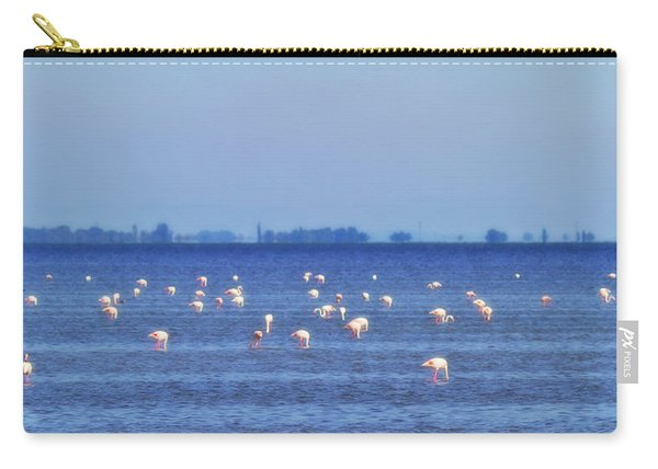 Flamingos In The Pond Carry-all Pouch