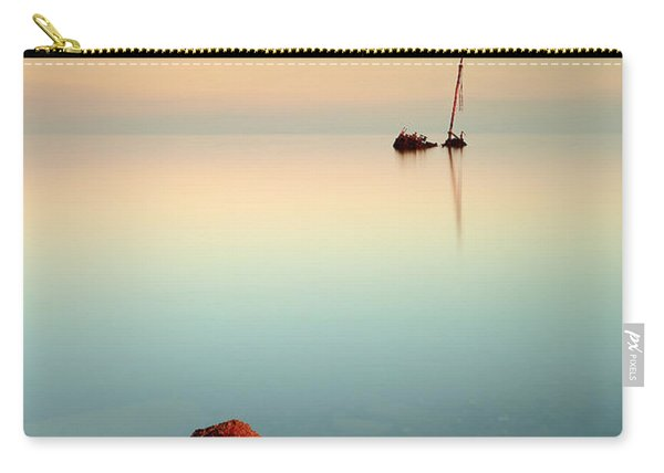 Flat Calm Shipwreck Sunrise Carry-all Pouch