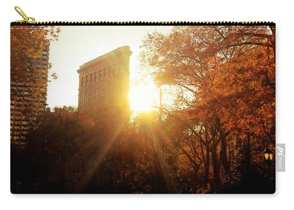 Flatiron Building Sunset - Madison Square Park Carry-all Pouch